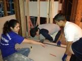 Caleb and Danny measuring