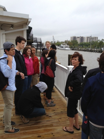 JoAnn giving us a history of New Orleans from the Light House