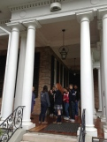 On a tour with Dr. Adler, head of the upper school