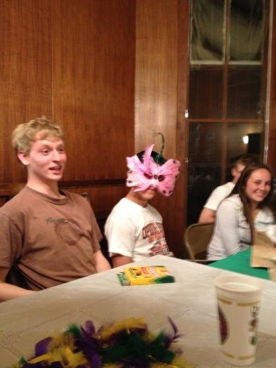 Max, Benzi, and Hailey. Benzi wearing his gift.