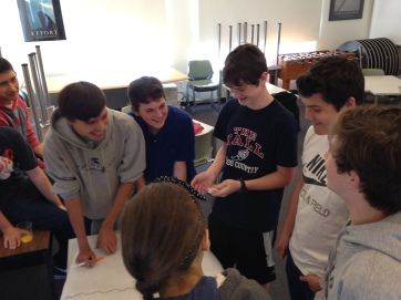 Patrick, Jack, Jack, and Max working together