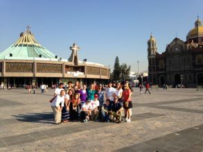 Our group with the older and newer basilica.