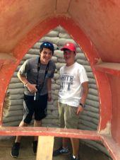 Max and Chris at the eco-dome. Tecuanipan.