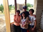 Norma and Virgilio with daughters, Isabel (right) and Paulina (center). Eco-dome.