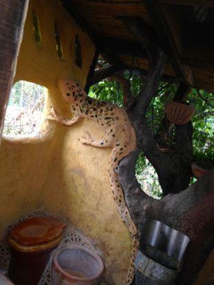 """Outhouse """"interior."""" La Casita del Barro."""
