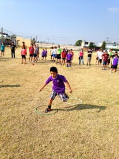 Playing Soccer with the local kids of Cholula