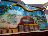 Mural of Aztec history/religion