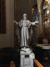 Sacred Heart statue in the main Cathedral