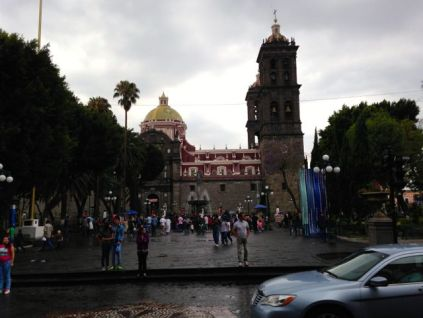 The cathedral in Puebla