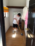 Anton sweeping! Do you do this at home?