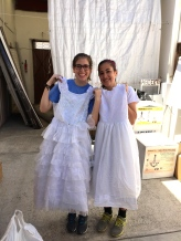 Claire and Maggie found some special dresses.