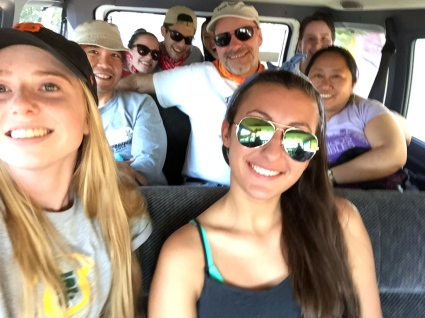 In the van on the way to Tecuanipan - Day Four.