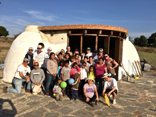Our group on the land of Community Links
