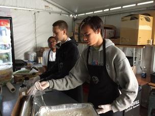 Patrick making food runs