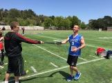 Dante helping out at the javelin throw . . .