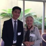 Jake with survivor Anne Marie Yellen