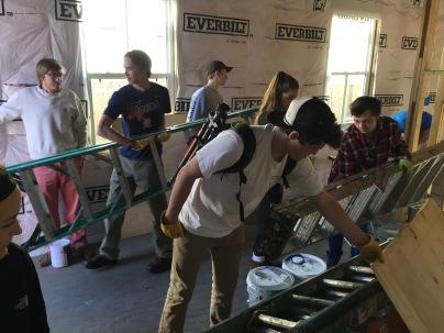 Grabbing ladders