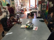 In the art room