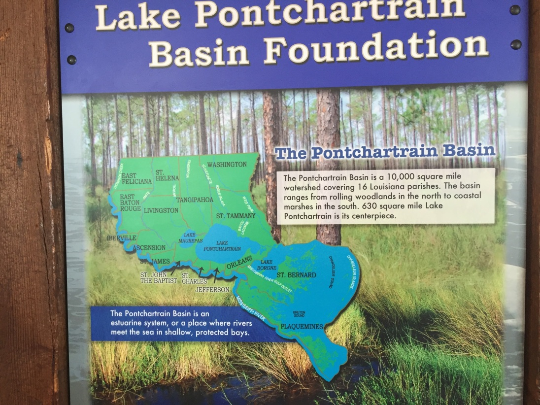 Map of Lake Pontchartrain