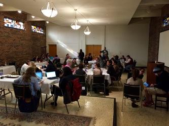 Gathering in Stuart Center