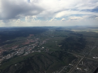 From the plane on arrival to Rapid City, South Dakota.