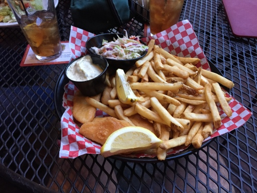 The ole fish and chips.
