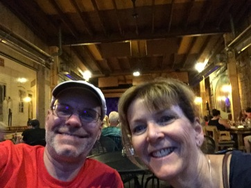 Ray and Dana at dinner.