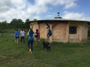 A house made of straw and mud and powered by solar.
