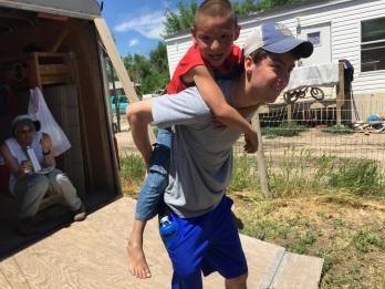 Ryan with boy.