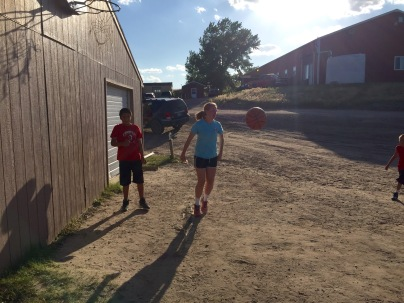 Jaycee playing basketball