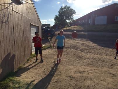 Jaycee playing basketball