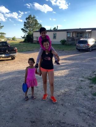 Juliana with kids