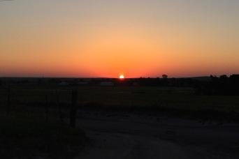 Thursday morning sunrise on the Reservation