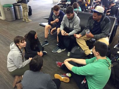 Playing cards at SFO