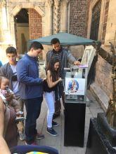 Pressing coins for a souvenir