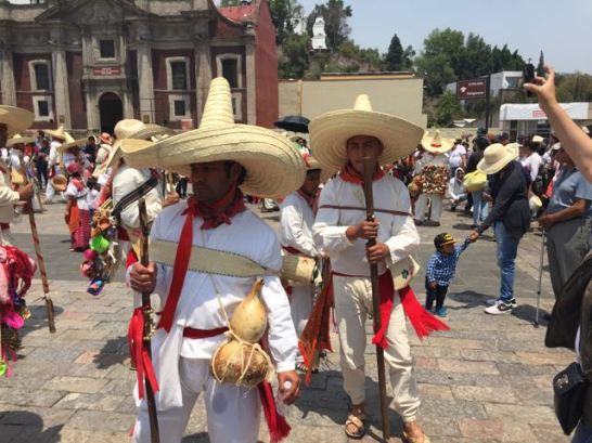 Local town performs a dance for Guadalupe