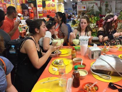Eating tostados togehter