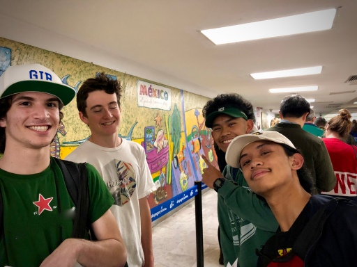 Kameron, Elias, Skyler, Rainier at Mexico Airport