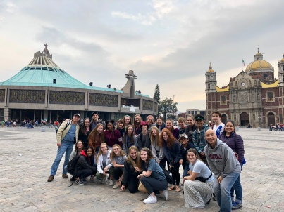 Group photo at Basilica de Guadalupe