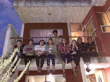 On the balcony in Cholula