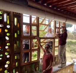 Varnishing the window frames