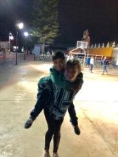 Nighttime fun in the town center, Tecuanipan